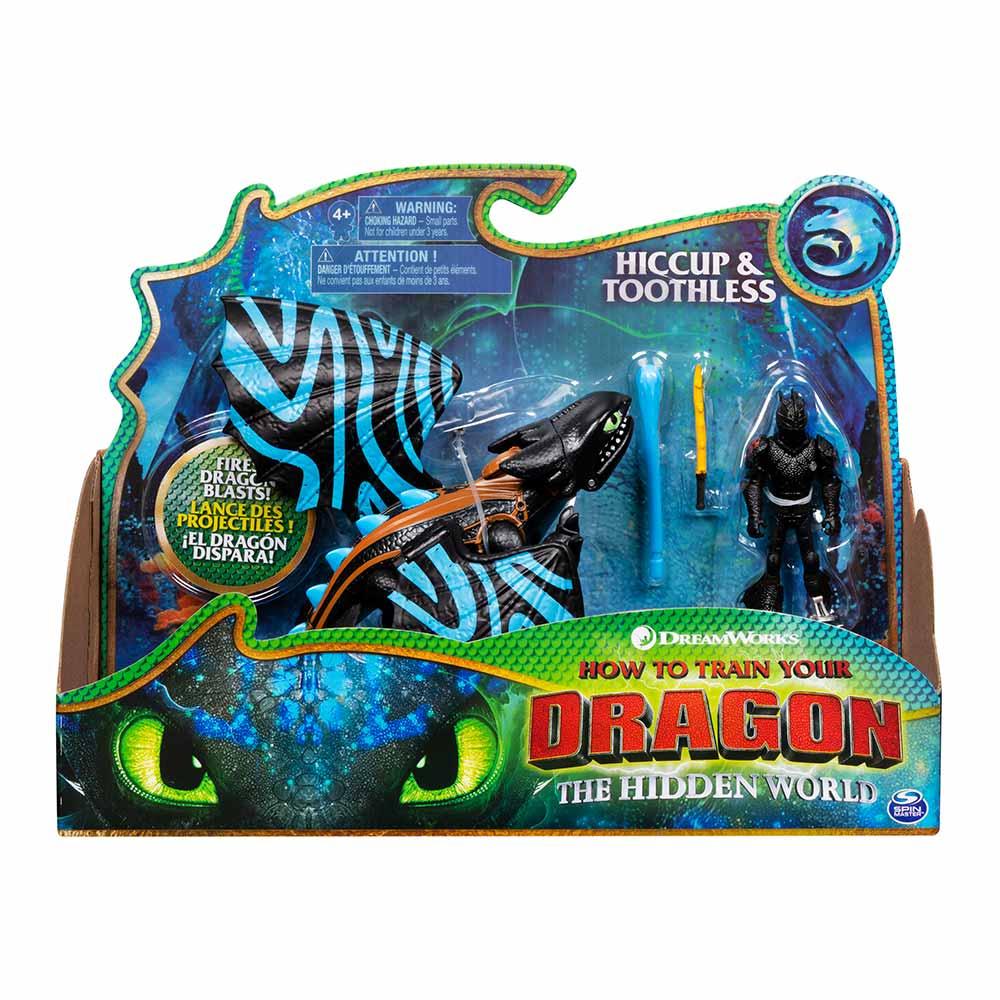 Купить Игровые наборы, Набор Dragons Как приручить дракона 3 Дракон Беззубик в боевом окрасе и викинг Иккинг (SM66621/7397), Spin Master
