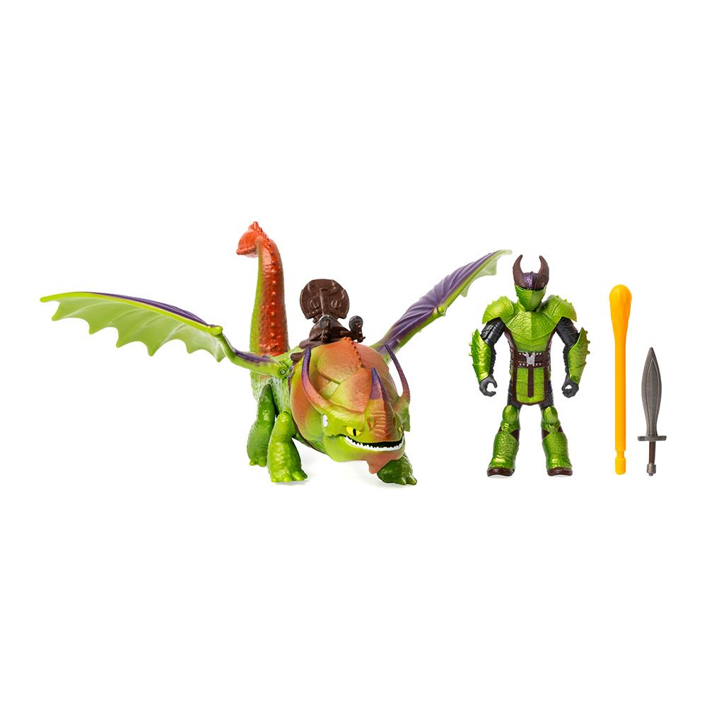 Купить Игровые наборы, Набор Dragons Как приручить дракона 3 Дракон Крушиголов и викинг Эрет (SM66621/7366), Spin Master