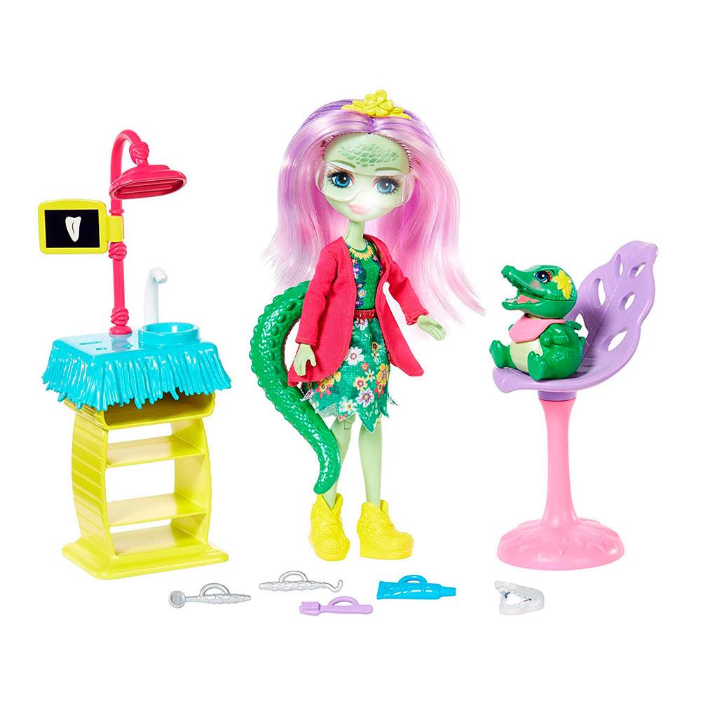 Купить Игровые наборы, Набор Enchantimals Развлечения на природе Стоматология со зверушкой (FCC62/GFN55), Mattel