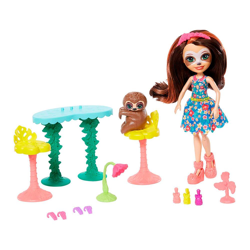 Купить Игровые наборы, Набор Enchantimals Развлечения на природе Кукла с ленивцем (FCC62/GFN54 ), Mattel