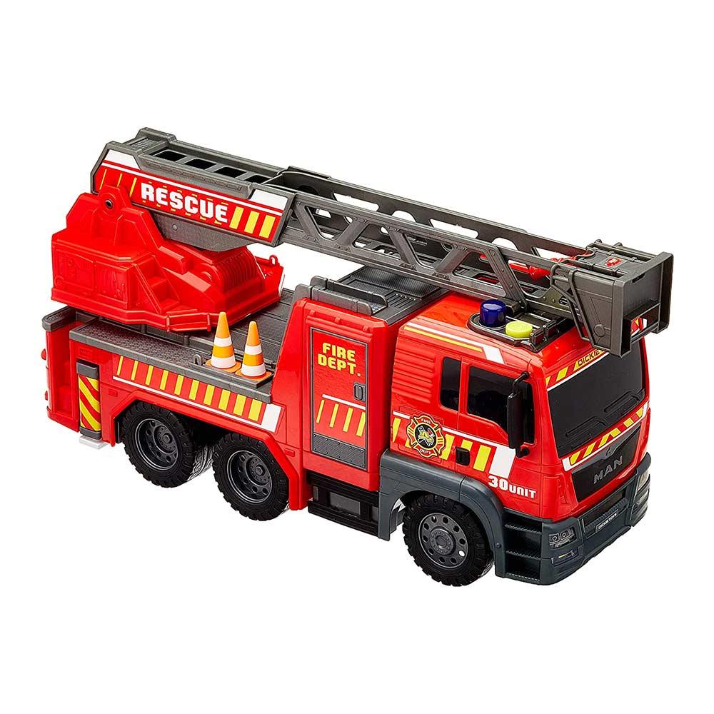 Купить Игрушечные машинки, техника, Машинка Dickie toys Sos man Пожарная служба со светом и звуком (3719017)