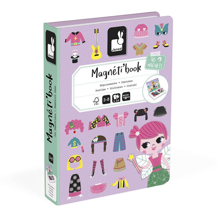 Купить Детские компьютеры, электронные игры, Магнитная книга Janod Наряды для девочки (J02718)