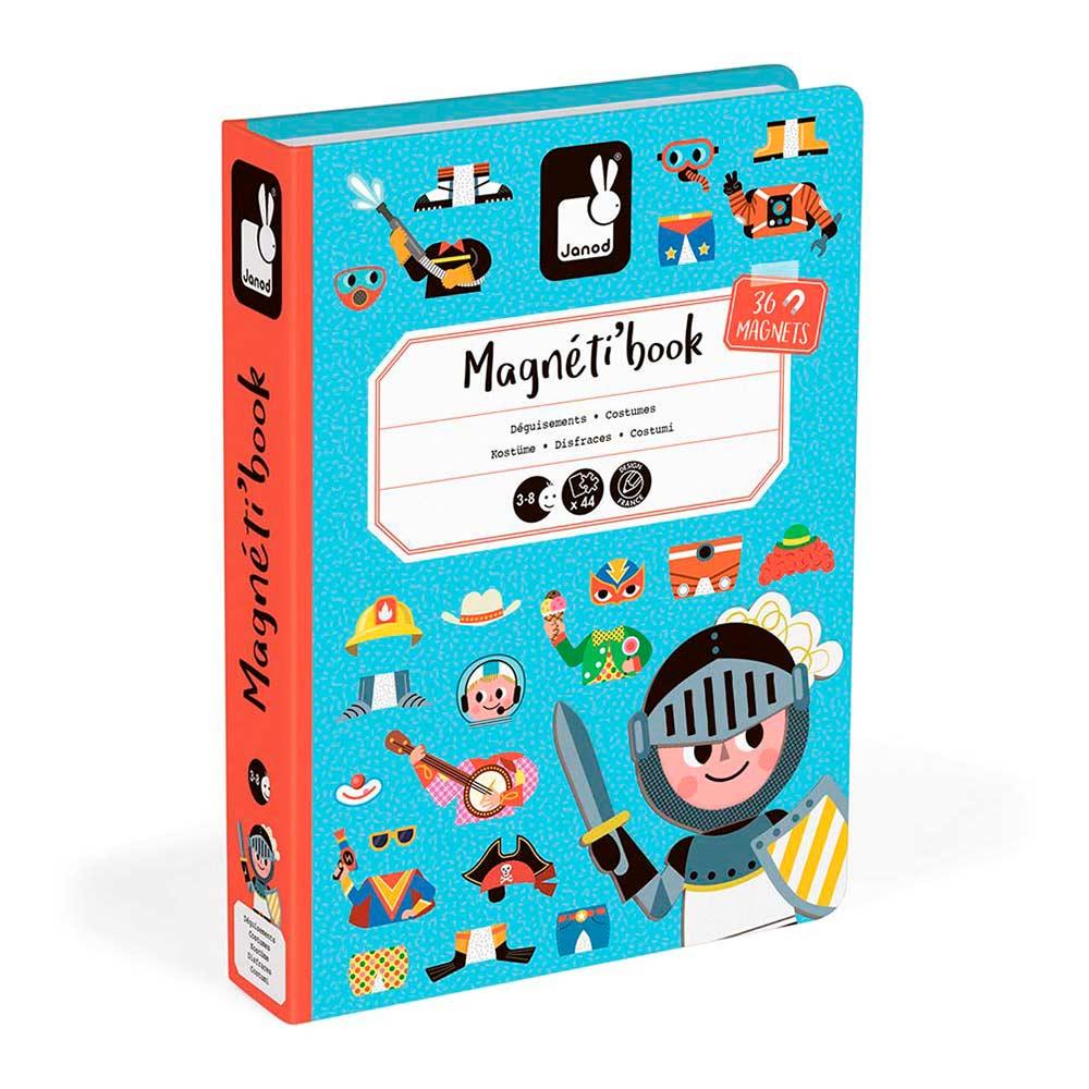 Купить Детские компьютеры, электронные игры, Магнитная книга Janod Наряды для мальчика (J02719)