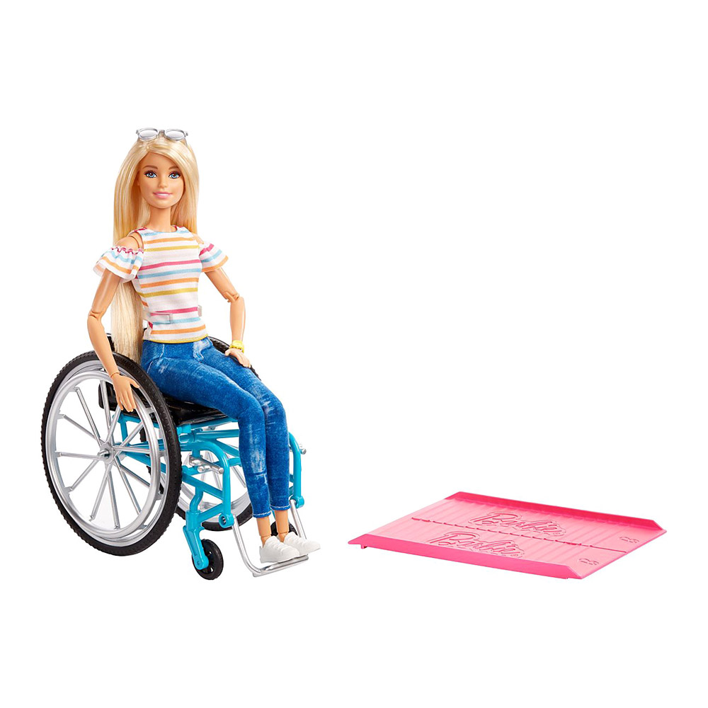 Купить Куклы, наборы для кукол, Набор Barbie Fashionistas Барби в кресле-каталке (GGL22), Mattel