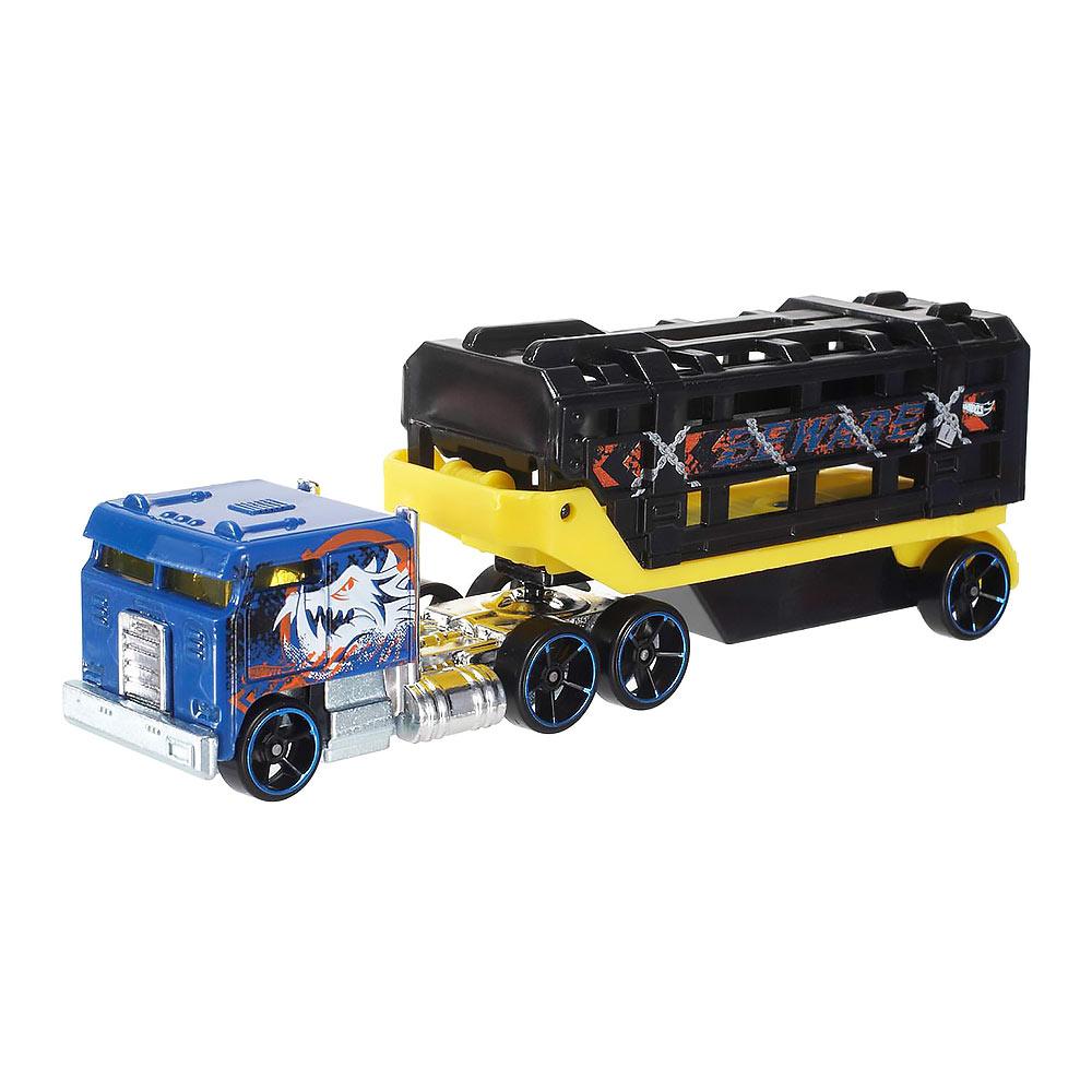 Mattel / Вантажівка-трейлер Hot wheels Track stars Вантажна клітка 1:64 (BFM60/BFM61)