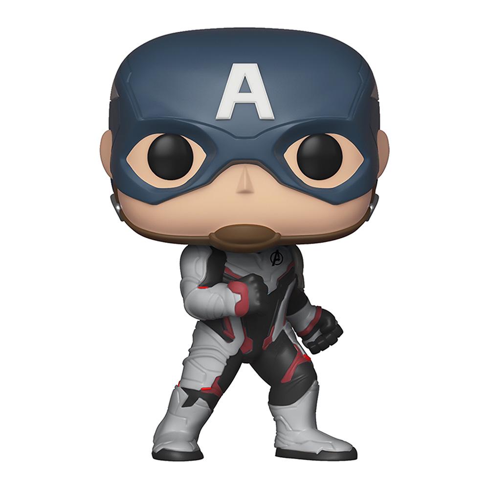 Купить Персонажи мультфильмов, игровые фигурки, Фигурка Funko Pop Avengers endgame Капитан Америка в белом костюме (36661)