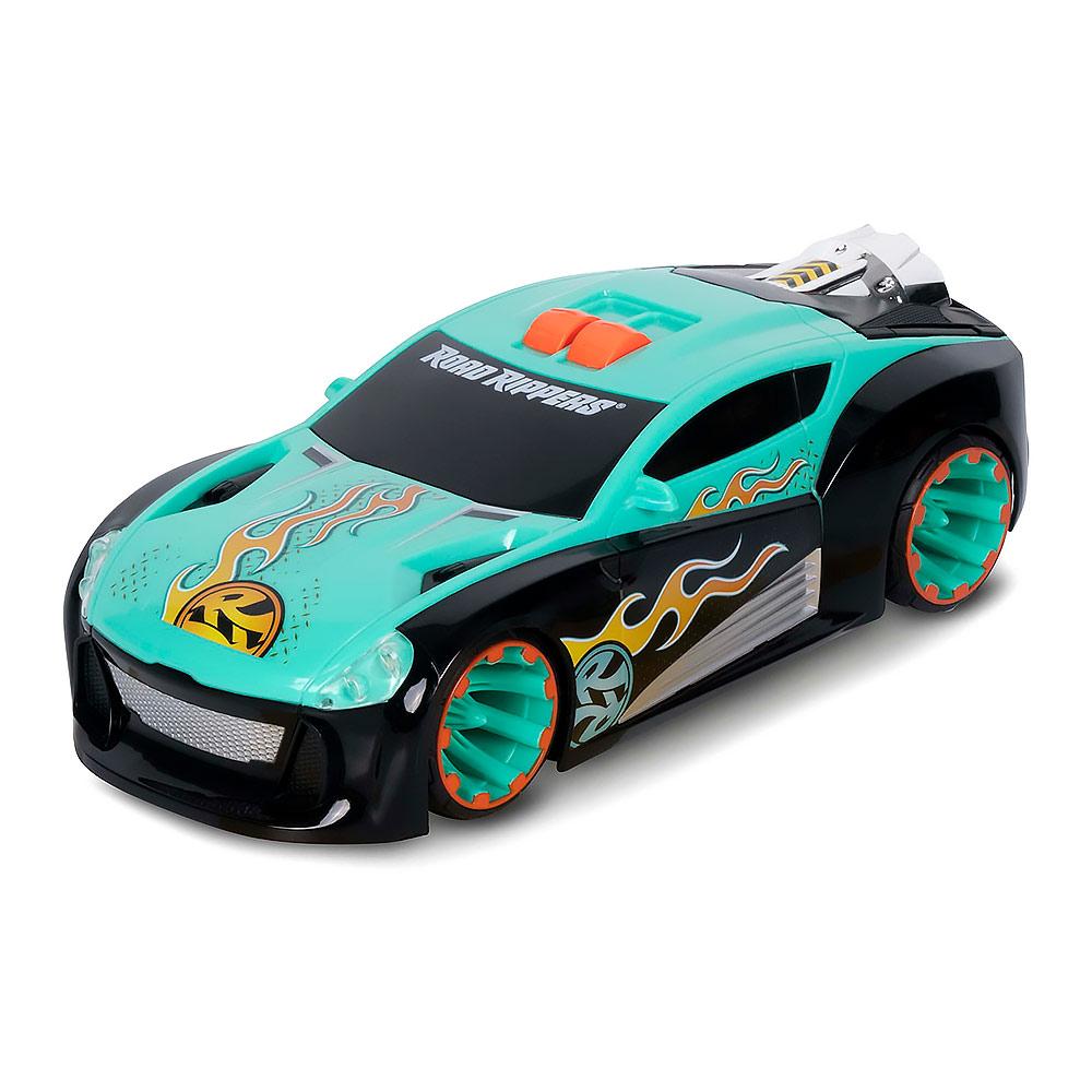 Масштабные модели, Машинка Road Rippers Максимальное ускорение бирюзовая с эффектами (20051)  - купить со скидкой