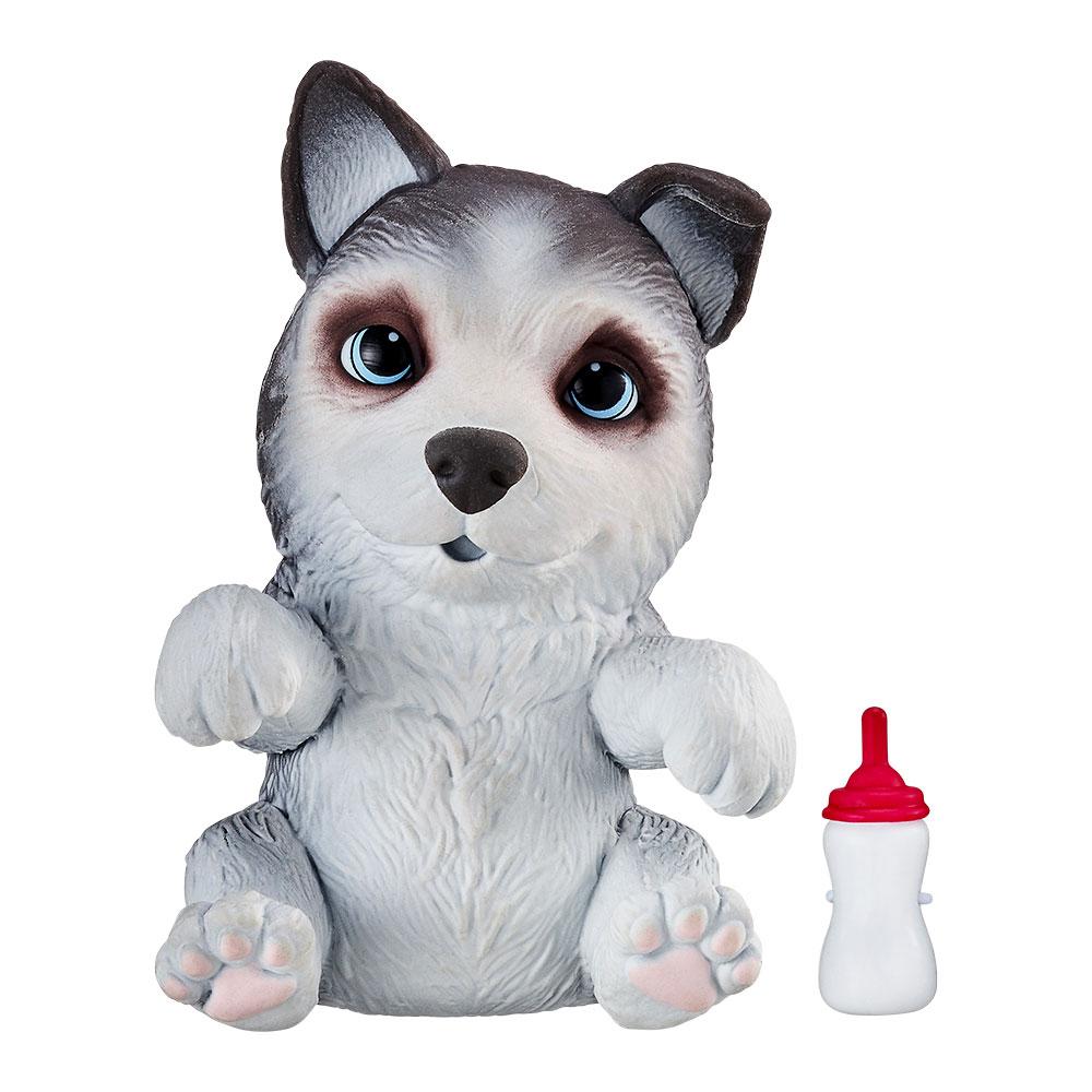 Купить Персонажи мультфильмов, игровые фигурки, Интерактивная игрушка Little live pets Soft hearts Щенок хаски (28919M)