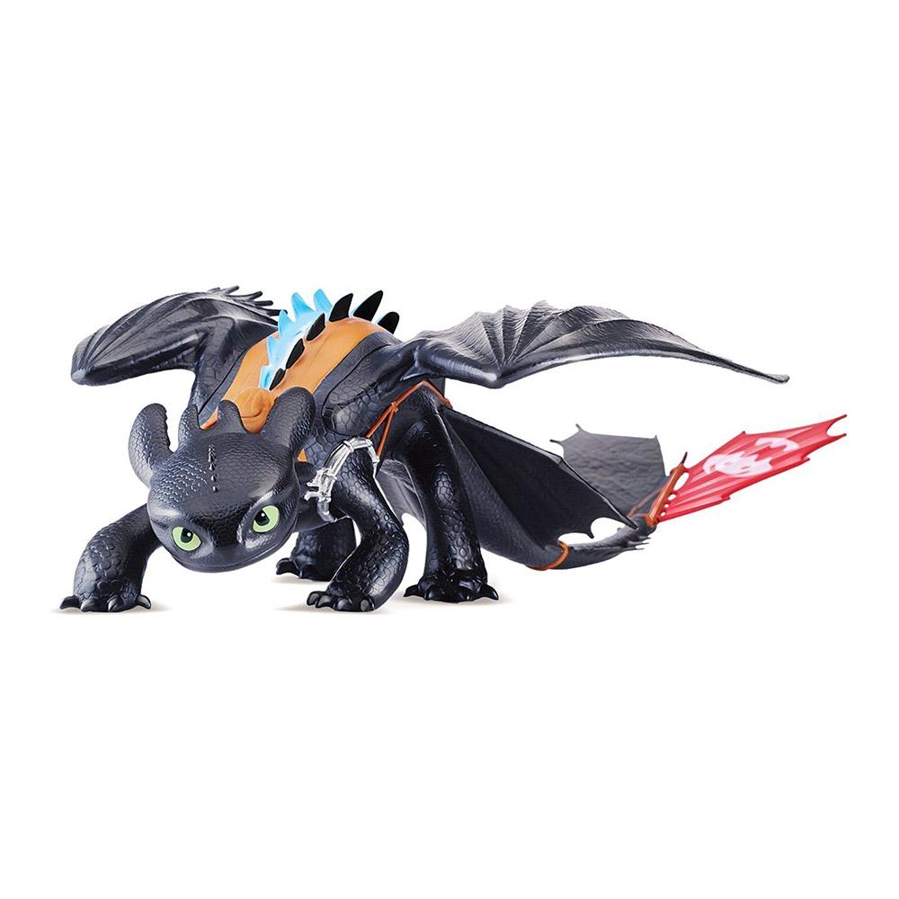 Купить Персонажи мультфильмов, игровые фигурки, Фигурка Dragons Как приручить дракона 3 Мега дракон Беззубик 58 см (SM66591), Spin Master