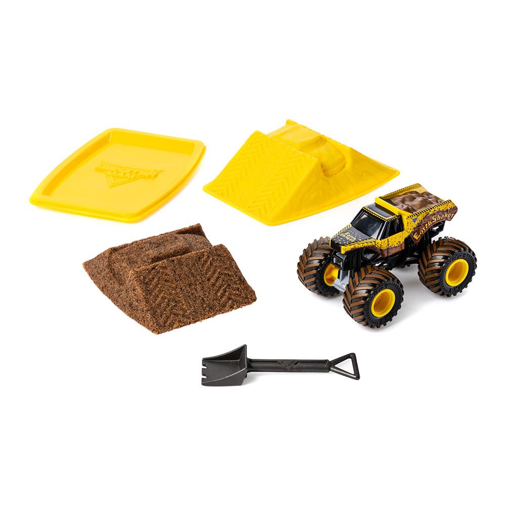 Купить Игрушечные машинки, техника, Набор Monster jam Monster dirt Землекрушитель стартовый с кинетическим песком 1:64 (6045198-1)