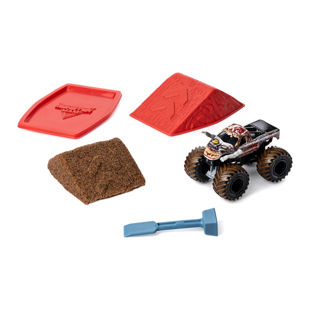 Купить Игрушечные машинки, техника, Набор Monster jam Monster dirt Зомби стартовый с кинетическим песком 1:64 (6045198-2)