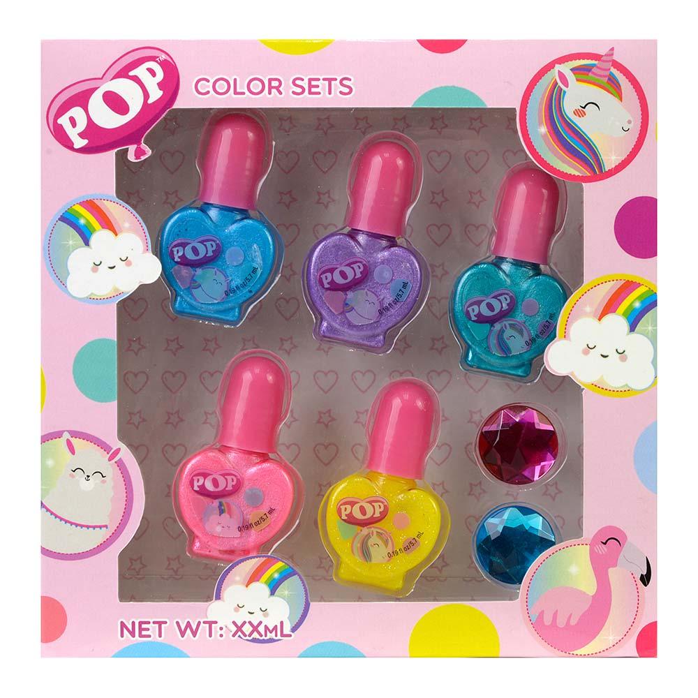 Купить Наборы для творчества и рукоделия, Набор лаков для ногтей Markwins Pop Цветная коробка (1539006E)