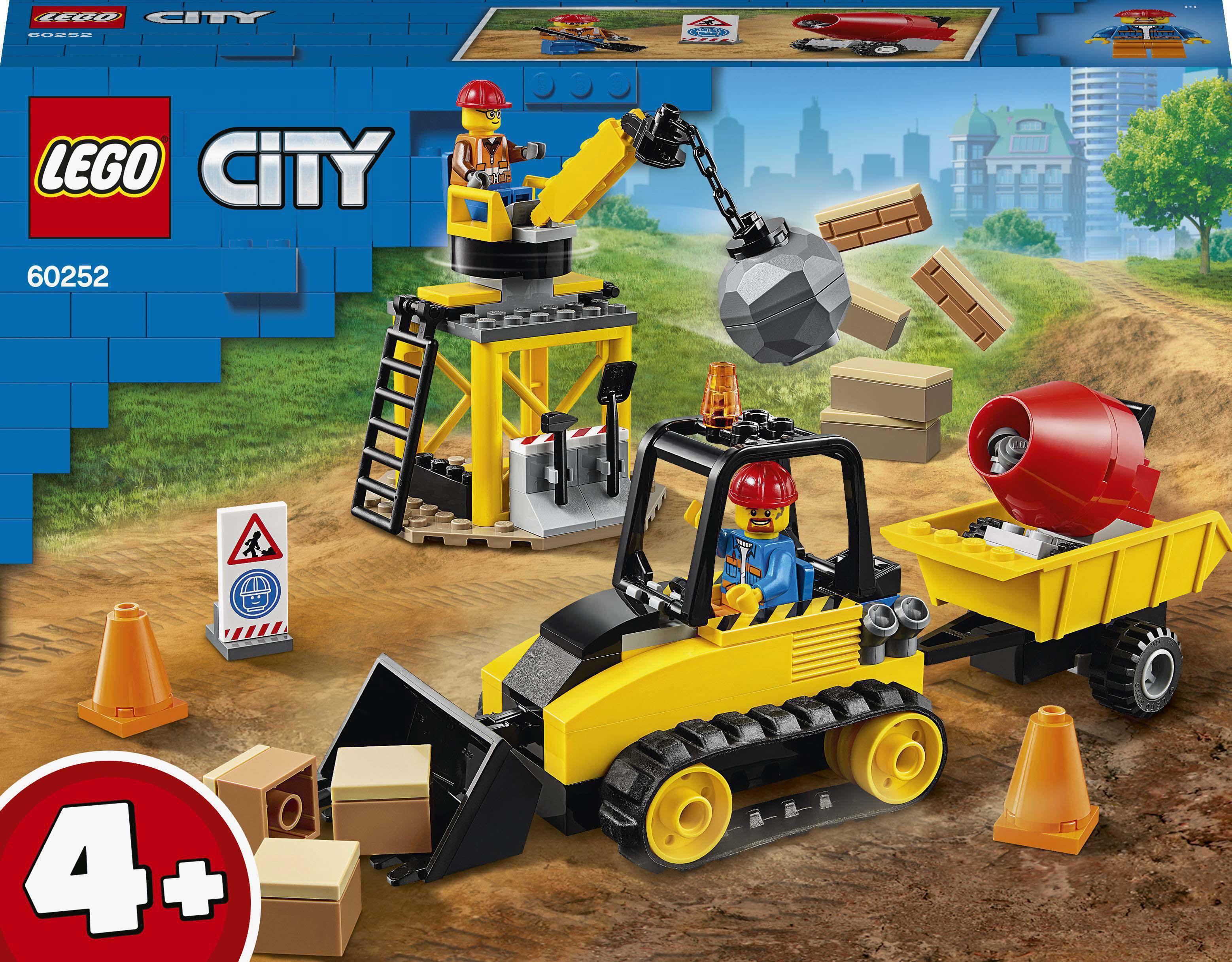 Конструктор LEGO City Строительный бульдозер (60252)