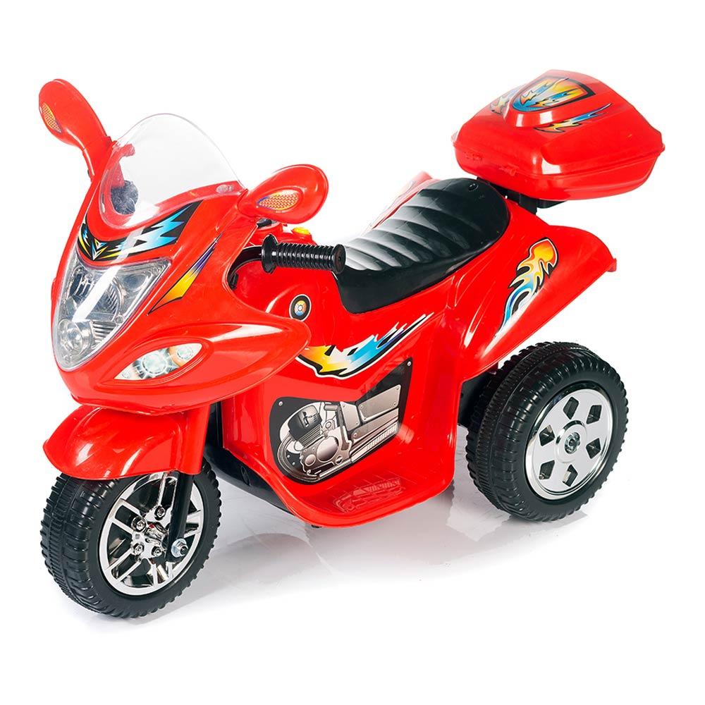 Электромотоцикл Babyhit Маленький гонщик красный с эффектами (71629)