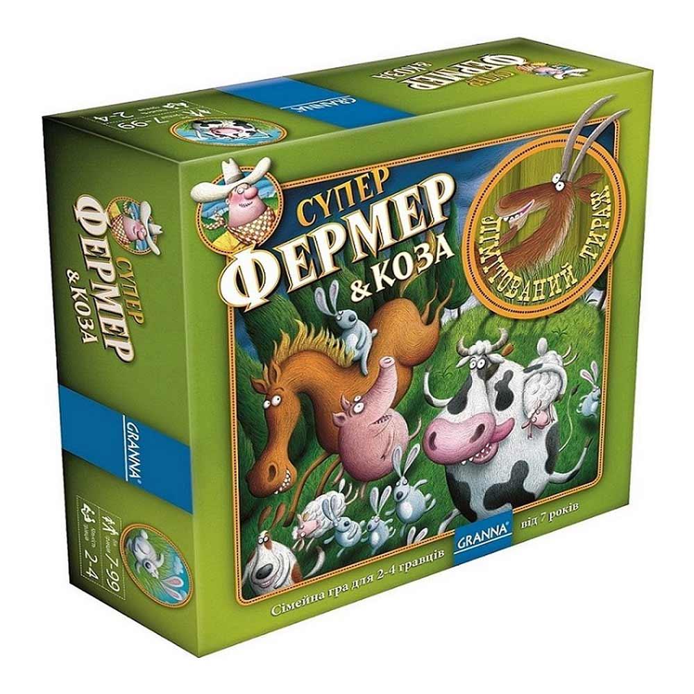 Купить Настольные игры, головоломки, Настольная игра Granna Суперфермер и коза (83491)