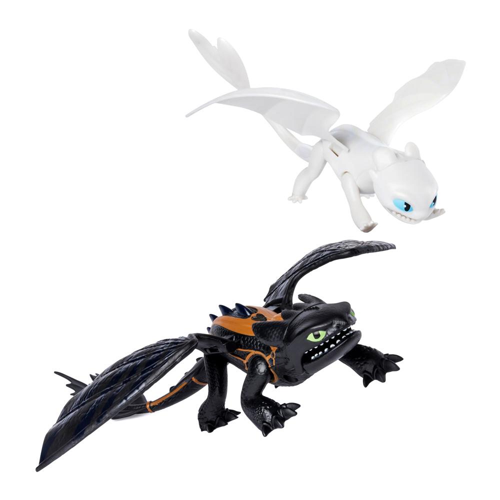 Купить Персонажи мультфильмов, игровые фигурки, Игровой набор Dragons Как приручить дракона 3 Беззубик и Дневная Фурия (SM66633), Spin Master