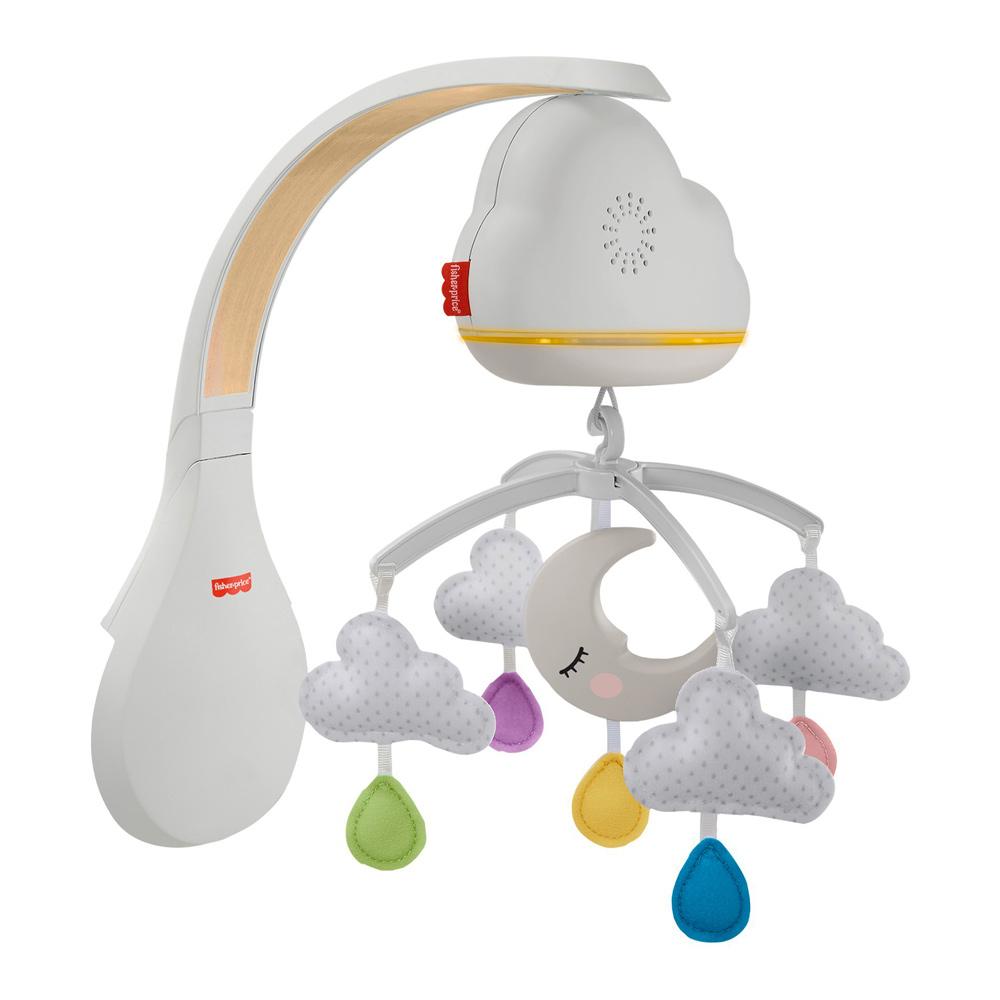 Акция на Мобайл Fisher-Price Успокаивающие облачка с эффектами (GRP99) от Будинок іграшок