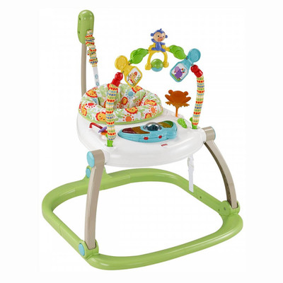 Крісло-качалки, шезлонги - Портативне крісло-стрибунець Fisher-Price Джунглі (CHN38)