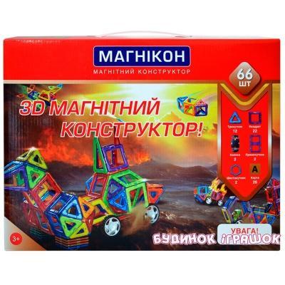 a28ee9014ff Магнитные конструкторы - Магнитный конструктор МАГНІКОН 3D 66 деталей  (МК-66) (MK
