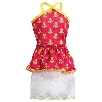 f3153f5aa18ab24 Игровой набор Модное платье Короткое красно-белое платье Barbie (CFX65 /  CLL58)