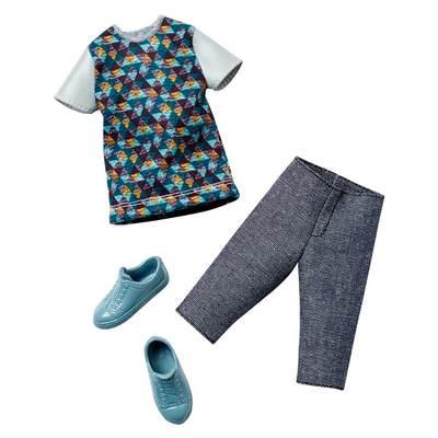 Одяг та аксесуари для ляльок - Ігровий набір Одяг для Кена Шорти і футболка  Barbie ( 0033548e16974
