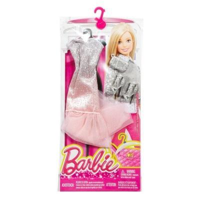 Аксесуари для ляльки Одяг Блискуче плаття з туфельками і сумочкою Barbie  Досконалий образ (DMF51) 366ae58b17124