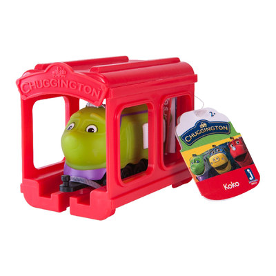 Железные дороги и поезда - Паровозик Jazwares Chuggington Коко с гаражом (JW10566/38620/10587)