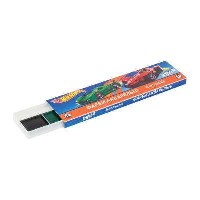 Товари для малювання - Фарби акварель без пензлика Kite Hot Wheels 6  кольорів в картонній коробці fa10f946f72be