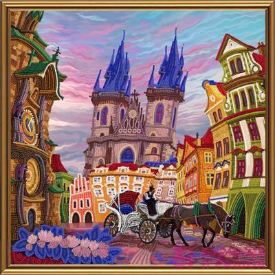 Набори для рукоділля - Набір для вишивки бісером Прага Nova Sloboda  Задзеркаллі (ДК1084) 30611562d2b98