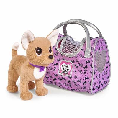 Мягкая игрушка Simba Chi-Сhi Love Собачка Чихуахуа Гламур с сумочкой, 20 см