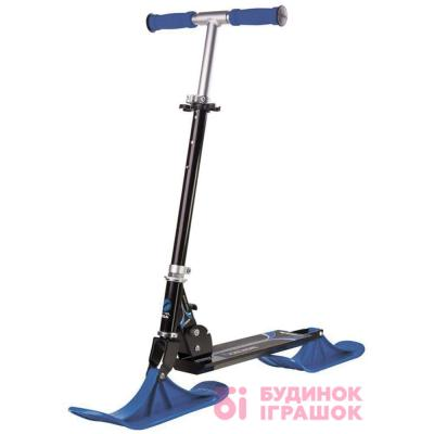 Санки - Самокат снігокат Snow kick black blue (75-1118-16)