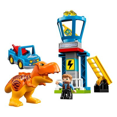 Конструктори LEGO - Конструктор LEGO Duplo Jurassic world Вежа тиранозавра (10880)