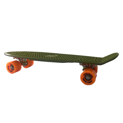 Скейти - Скейт Go Travel Penny board хакі із помаранчевим (LS-P2206GOS)
