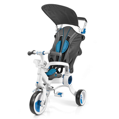 Велосипеды и беговелы - Велосипед Galileo Strollcycle трёхколёсный синий (G-1001-B)