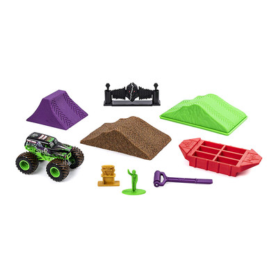 Автотреки - Набор Monster jam Monster dirt Могильщик делюкс с кинетическим песком 1:64 (6044986-1)