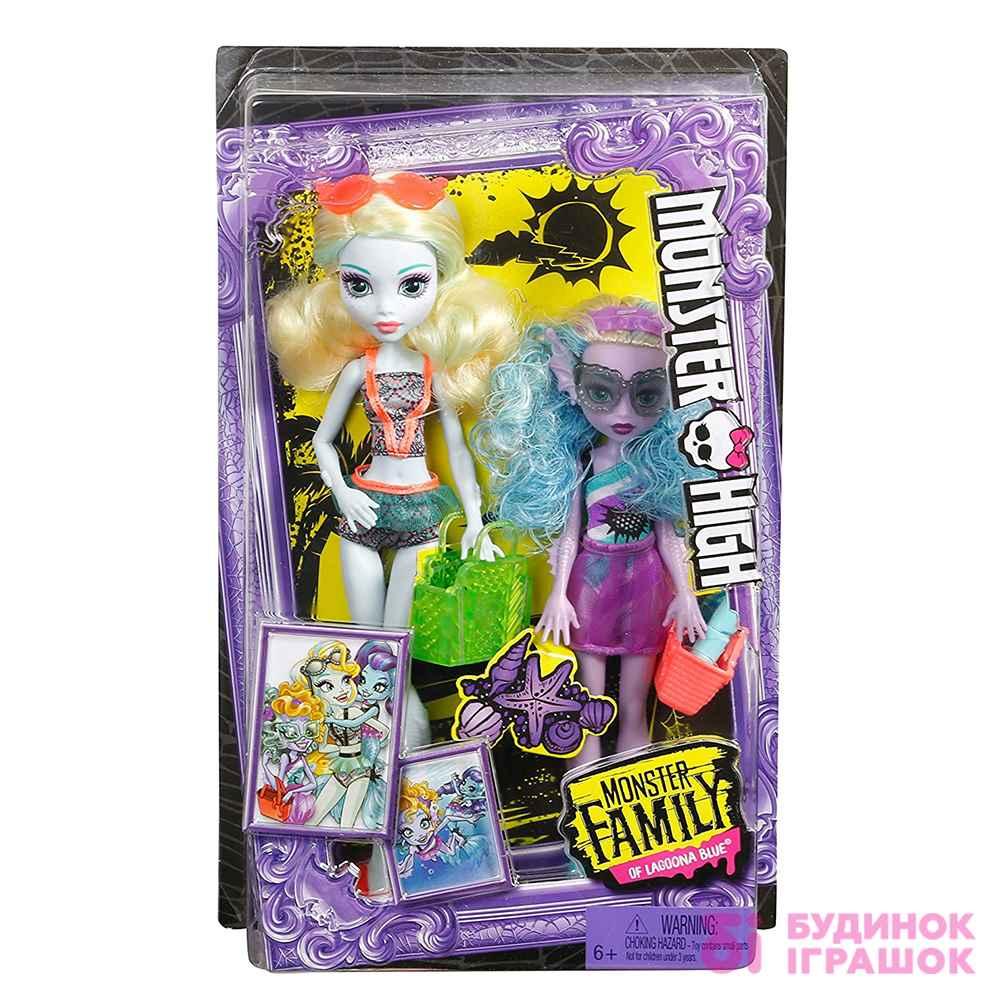 ... Модельні ляльки - Набір Monster High Monster Family Лагуна Блю і її  сестра Келпі Блю ( aabd664915b17