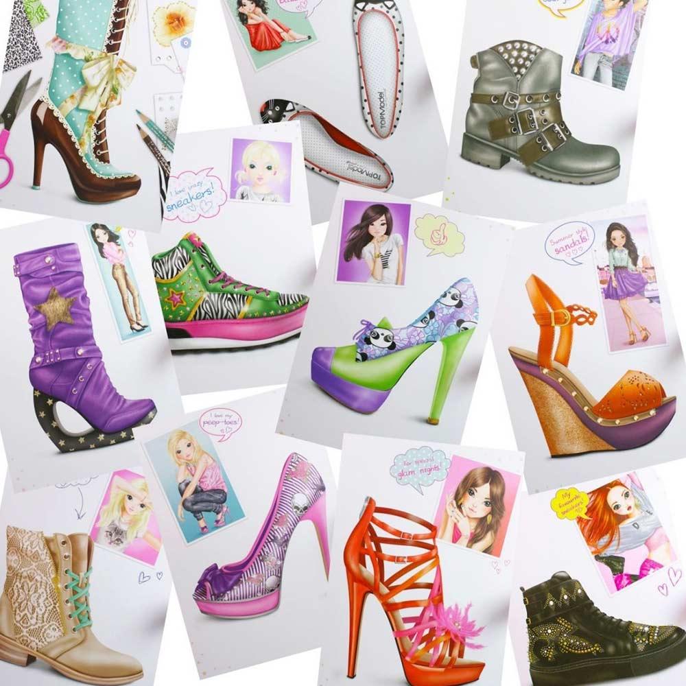 b68c9dbdae5968 ... Товари для малювання - Книжка для розфарбовування Top Model Дизайн  взуття (047987)#3 ...